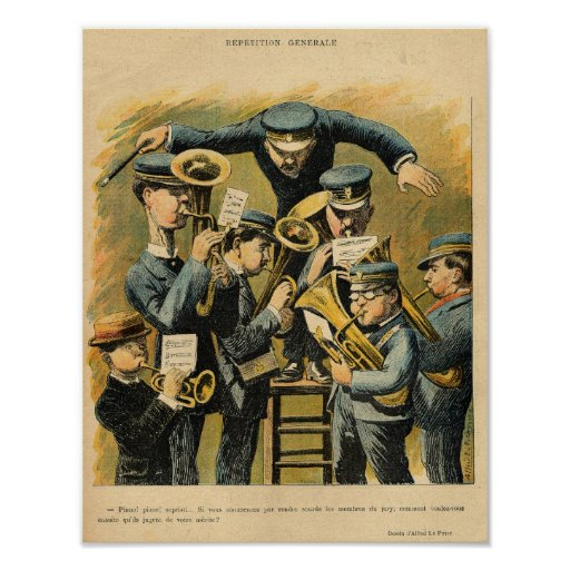 Band rehearsal print
