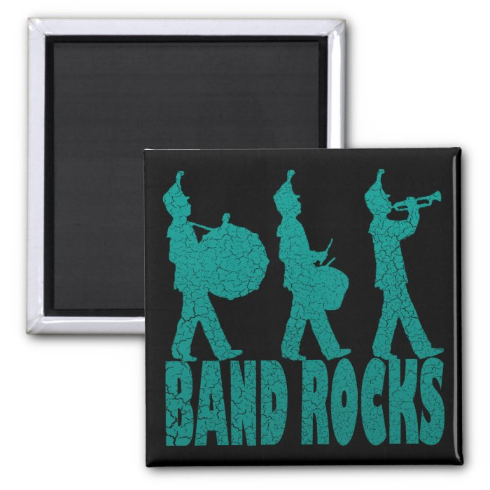 BAND ROCKS 2 INCH SQUARE MAGNET