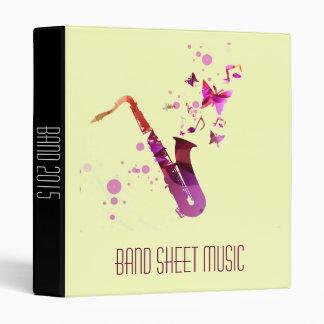 Band / sax Sheet Music band student folder 3 Ring Binders