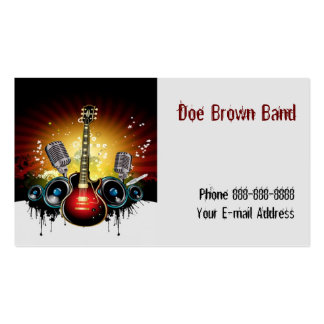 Band Singer Business Card