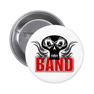 Band Skull Button