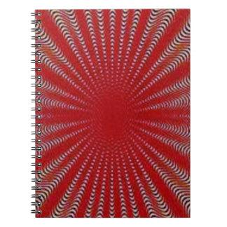 band, sun, fushion spiral notebook