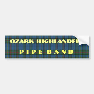 Band Tartan and text Bumper Stickers
