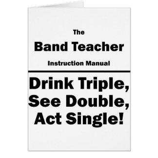 band teacher cards