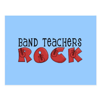 Band Teachers Rock Tshirts and Gifts Post Cards