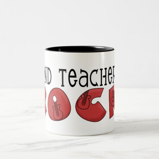Band Teachers Rock Two-Tone Coffee Mug