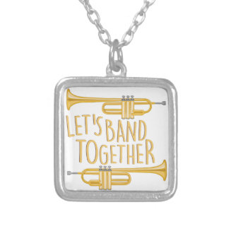 Band Together Silver Plated Necklace