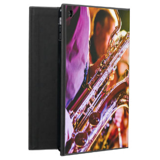 Band with saxophone player case for iPad air