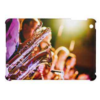 Band with saxophone player iPad mini cases