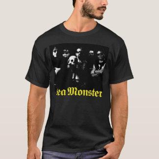 Band With Skull and Sea Monster Logo (Black Shirt) T-Shirt