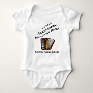 Banda alegre del acordeón body para bebé