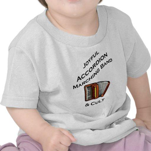 Banda alegre del acordeón camiseta