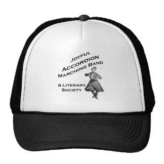 Banda alegre del acordeón gorras