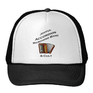 Banda alegre del acordeón gorras de camionero