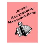 Banda alegre del acordeón postales