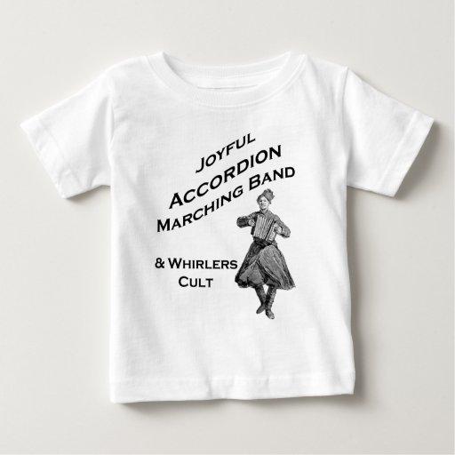 Banda alegre del acordeón t shirt