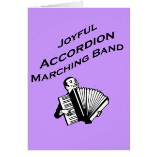 Banda alegre del acordeón tarjeta de felicitación