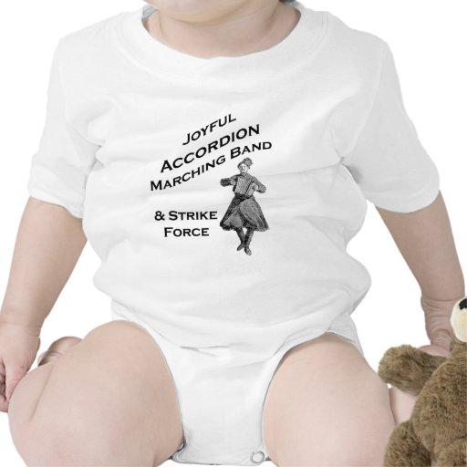 Banda alegre del acordeón traje de bebé