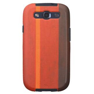 Banda anaranjada fina expresionismo mínimo geomét galaxy s3 fundas