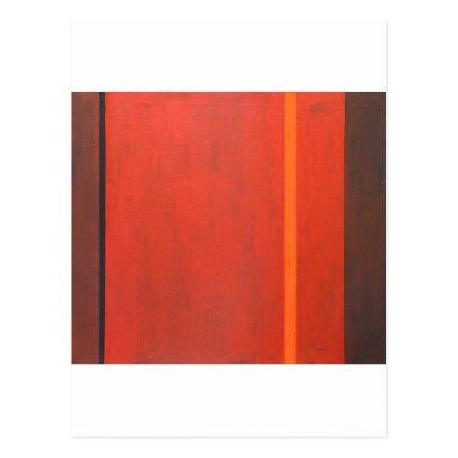 Banda anaranjada fina (expresionismo mínimo tarjeta postal