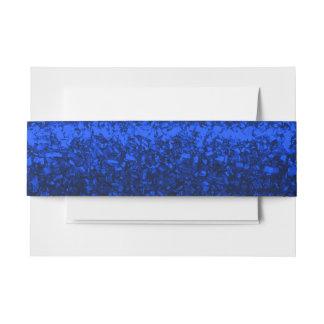 Banda azul del Belly del Glitz Cintas Para Invitaciones