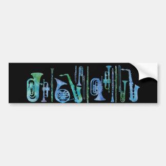 Banda azul fresca pegatina para auto