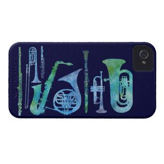 Banda azul fresca Case-Mate iPhone 4 carcasa