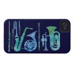Banda azul fresca iPhone 4 Case-Mate protector