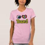 Banda brillante del amor del corazón I del ojo Camiseta