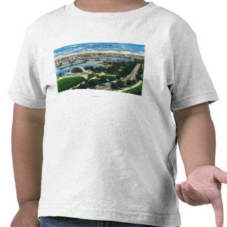 Banda conmemorativa Shell, el río Charles de la po Camiseta