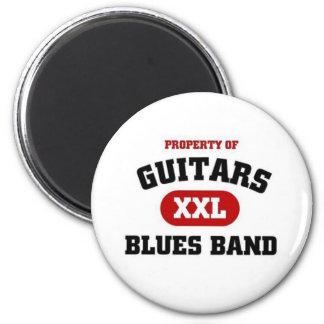 Banda de azules de las guitarras imán para frigorifico