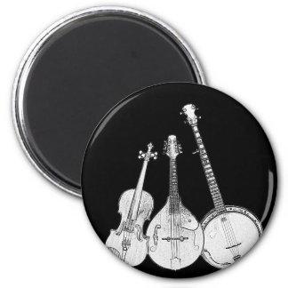 Banda de Bluegrass B&W Imán Redondo 5 Cm