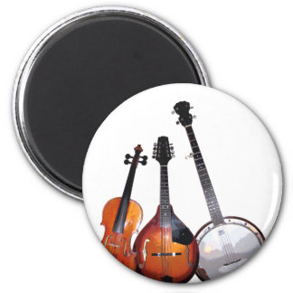 Banda de Bluegrass filtrada Imán Redondo 5 Cm