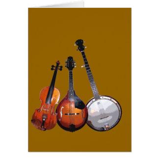 Banda de Bluegrass filtrada Tarjeta De Felicitación