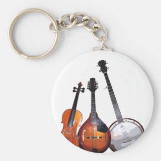 Banda de Bluegrass Llavero Redondo Tipo Pin