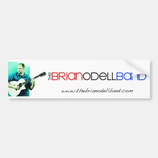 Banda de Brian Odell - pegatina para el parachoque Pegatina Para Auto