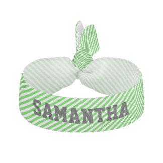 Banda de encargo rayada verde del pelo banda para el cabello