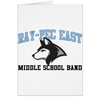 Banda de escuela secundaria del este Rayo-CPE Felicitación