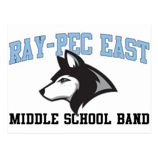 Banda de escuela secundaria del este Rayo-CPE Postales