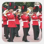 Banda de guardias, Buckingham Palace, Londres, Pegatina Cuadrada