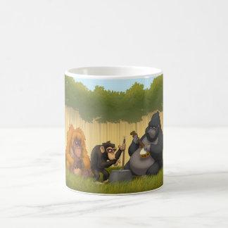Banda de jarro de la taza de los monos