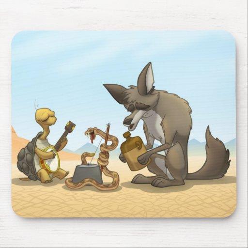 Banda de jarro del desierto Mousepad Tapete De Ratón