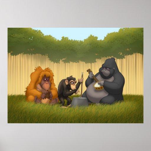 Banda de jarro del poster de los monos