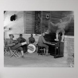 Banda de jazz, 1918 posters