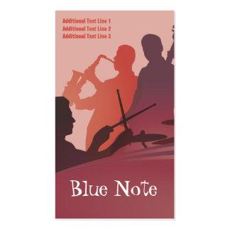 Banda de jazz de la plantilla de la tarjeta de tarjetas de visita