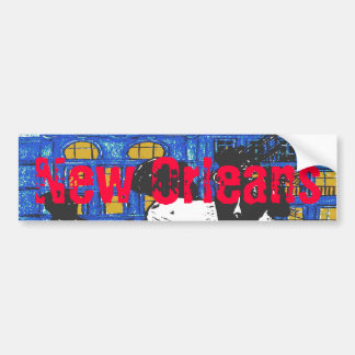 Banda de jazz de New Orleans Etiqueta De Parachoque