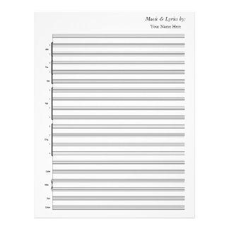 Banda de jazz en blanco de la partitura membretes personalizados
