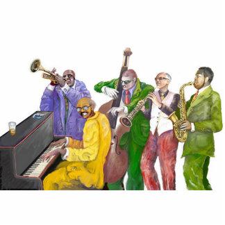 * banda de jazz * fotoescultura vertical