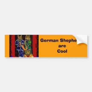Banda de jazz fresca del pastor alemán pegatina para auto