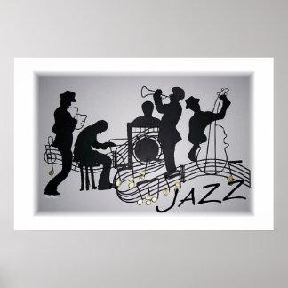 Banda de jazz impresiones